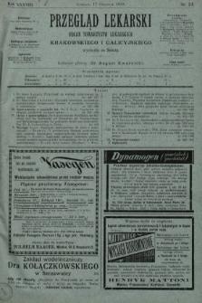 Przegląd Lekarski : organ Towarzystw Lekarskich Krakowskiego i Galicyjskiego. 1899, nr24