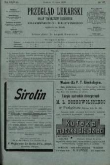 Przegląd Lekarski : organ Towarzystw Lekarskich Krakowskiego i Galicyjskiego. 1899, nr27