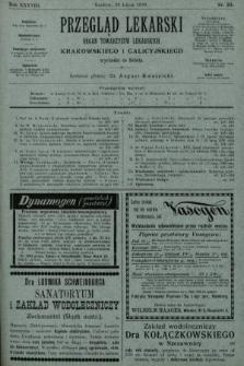 Przegląd Lekarski : organ Towarzystw Lekarskich Krakowskiego i Galicyjskiego. 1899, nr30