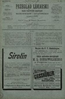 Przegląd Lekarski : organ Towarzystw Lekarskich Krakowskiego i Galicyjskiego. 1899, nr31