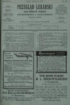 Przegląd Lekarski : organ Towarzystw Lekarskich Krakowskiego i Galicyjskiego. 1899, nr34