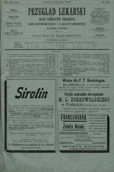 Przegląd Lekarski : organ Towarzystw Lekarskich Krakowskiego i Galicyjskiego. 1899, nr35