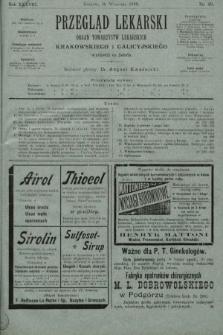 Przegląd Lekarski : organ Towarzystw Lekarskich Krakowskiego i Galicyjskiego. 1899, nr39