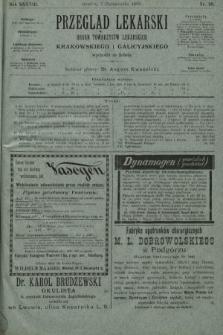Przegląd Lekarski : organ Towarzystw Lekarskich Krakowskiego i Galicyjskiego. 1899, nr40