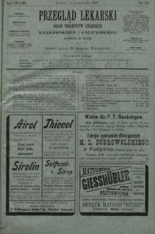 Przegląd Lekarski : organ Towarzystw Lekarskich Krakowskiego i Galicyjskiego. 1899, nr41