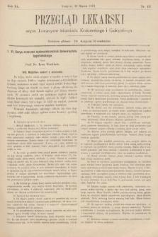 Przegląd Lekarski : organ Towarzystw Lekarskich Krakowskiego, Lwowskiego i Galicyjskiego. 1901, nr13