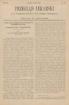 Przegląd Lekarski : organ Towarzystw Lekarskich Krakowskiego, Lwowskiego i Galicyjskiego. 1901, nr18