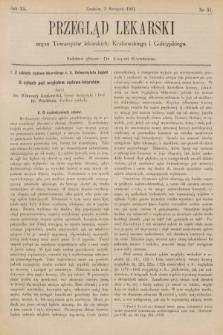 Przegląd Lekarski : organ Towarzystw Lekarskich Krakowskiego, Lwowskiego i Galicyjskiego. 1901, nr31