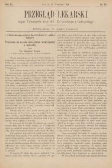 Przegląd Lekarski : organ Towarzystw Lekarskich Krakowskiego, Lwowskiego i Galicyjskiego. 1901, nr38