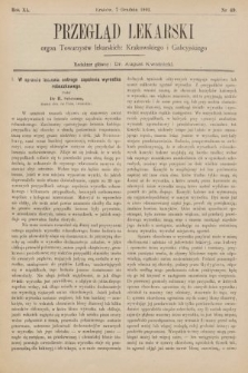 Przegląd Lekarski : organ Towarzystw Lekarskich Krakowskiego, Lwowskiego i Galicyjskiego. 1901, nr49