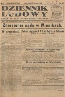 Dziennik Ludowy : organ Polskiej Partji Socjalistycznej. 1929, nr1
