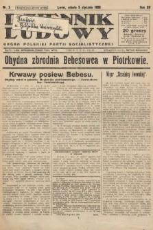 Dziennik Ludowy : organ Polskiej Partji Socjalistycznej. 1929, nr3