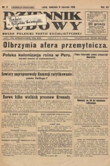 Dziennik Ludowy : organ Polskiej Partji Socjalistycznej. 1929, nr4