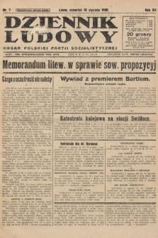 Dziennik Ludowy : organ Polskiej Partji Socjalistycznej. 1929, nr7