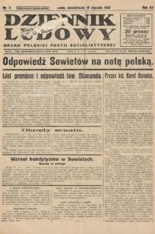 Dziennik Ludowy : organ Polskiej Partji Socjalistycznej. 1929, nr11