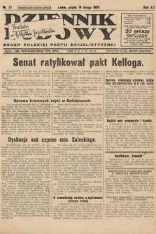 Dziennik Ludowy : organ Polskiej Partji Socjalistycznej. 1929, nr37