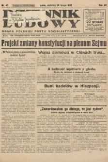 Dziennik Ludowy : organ Polskiej Partji Socjalistycznej. 1929, nr45