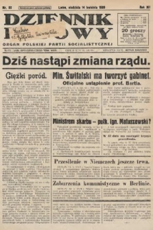 Dziennik Ludowy : organ Polskiej Partji Socjalistycznej. 1929, nr85