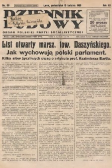 Dziennik Ludowy : organ Polskiej Partji Socjalistycznej. 1929, nr86