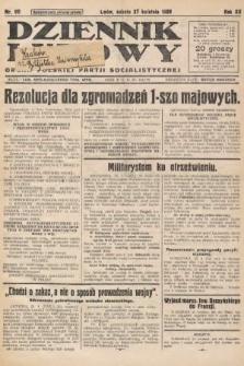 Dziennik Ludowy : organ Polskiej Partji Socjalistycznej. 1929, nr96