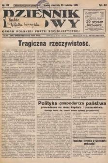 Dziennik Ludowy : organ Polskiej Partji Socjalistycznej. 1929, nr97