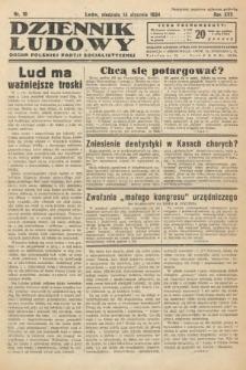 Dziennik Ludowy : organ Polskiej Partji Socjalistycznej. 1934, nr10