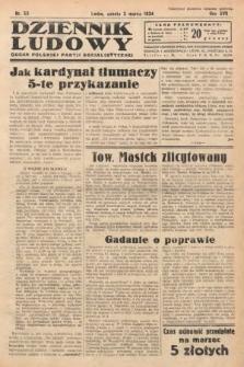 Dziennik Ludowy : organ Polskiej Partji Socjalistycznej. 1934, nr50