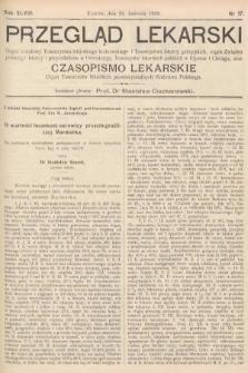 Przegląd Lekarski oraz Czasopismo Lekarskie. 1909, nr17