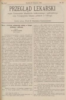 Przegląd Lekarski : organ Towarzystw lekarskich: krakowskiego i galicyjskiego oraz Towarzystwa lekarzy polskich w Chicago. 1906, nr32