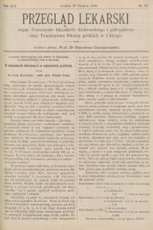 Przegląd Lekarski : organ Towarzystw lekarskich: krakowskiego i galicyjskiego oraz Towarzystwa lekarzy polskich w Chicago. 1906, nr33