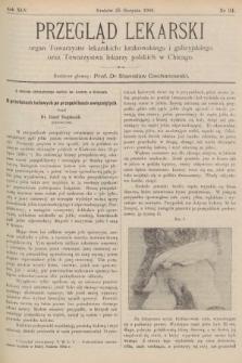 Przegląd Lekarski : organ Towarzystw lekarskich: krakowskiego i galicyjskiego oraz Towarzystwa lekarzy polskich w Chicago. 1906, nr34