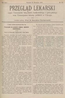 Przegląd Lekarski : organ Towarzystw lekarskich: krakowskiego i galicyjskiego oraz Towarzystwa lekarzy polskich w Chicago. 1906, nr37