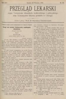 Przegląd Lekarski : organ Towarzystw lekarskich: krakowskiego i galicyjskiego oraz Towarzystwa lekarzy polskich w Chicago. 1906, nr38
