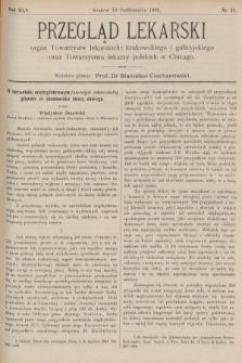 Przegląd Lekarski : organ Towarzystw lekarskich: krakowskiego i galicyjskiego oraz Towarzystwa lekarzy polskich w Chicago. 1906, nr41