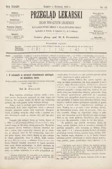Przegląd Lekarski : organ Towarzystw Lekarskich Krakowskiego i Galicyjskiego. 1895, nr14