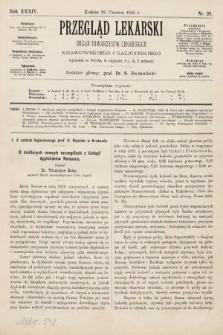 Przegląd Lekarski : organ Towarzystw Lekarskich Krakowskiego i Galicyjskiego. 1895, nr26