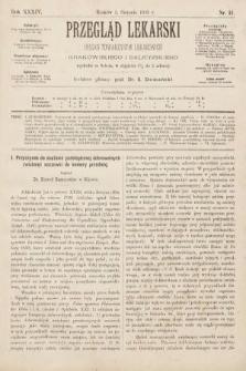 Przegląd Lekarski : organ Towarzystw Lekarskich Krakowskiego i Galicyjskiego. 1895, nr31