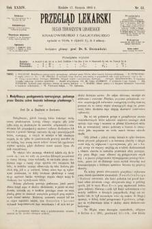 Przegląd Lekarski : organ Towarzystw Lekarskich Krakowskiego i Galicyjskiego. 1895, nr33