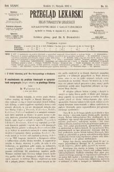 Przegląd Lekarski : organ Towarzystw Lekarskich Krakowskiego i Galicyjskiego. 1895, nr35