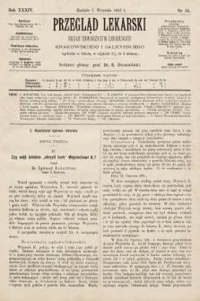 Przegląd Lekarski : organ Towarzystw Lekarskich Krakowskiego i Galicyjskiego. 1895, nr36