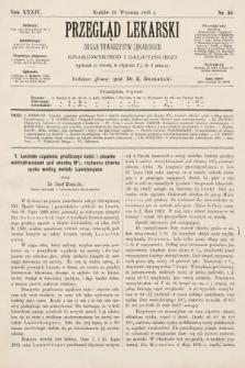 Przegląd Lekarski : organ Towarzystw Lekarskich Krakowskiego i Galicyjskiego. 1895, nr39