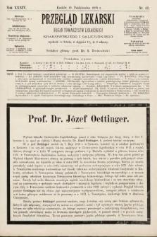 Przegląd Lekarski : organ Towarzystw Lekarskich Krakowskiego i Galicyjskiego. 1895, nr42