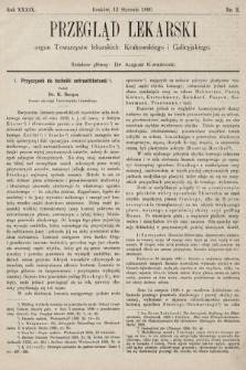 Przegląd Lekarski : organ Towarzystw lekarskich: Krakowskiego i Galicyjskiego. 1900, nr2