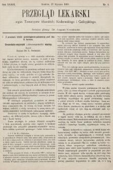 Przegląd Lekarski : organ Towarzystw lekarskich: Krakowskiego i Galicyjskiego. 1900, nr4