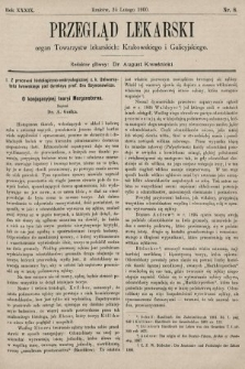 Przegląd Lekarski : organ Towarzystw lekarskich: Krakowskiego i Galicyjskiego. 1900, nr8