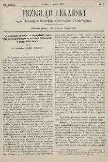 Przegląd Lekarski : organ Towarzystw lekarskich: Krakowskiego i Galicyjskiego. 1900, nr9