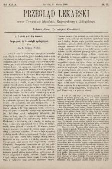 Przegląd Lekarski : organ Towarzystw lekarskich: Krakowskiego i Galicyjskiego. 1900, nr13