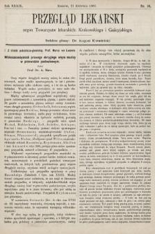 Przegląd Lekarski : organ Towarzystw lekarskich: Krakowskiego i Galicyjskiego. 1900, nr16