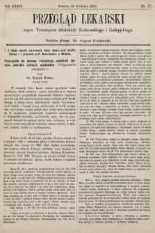 Przegląd Lekarski : organ Towarzystw lekarskich: Krakowskiego i Galicyjskiego. 1900, nr17
