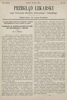 Przegląd Lekarski : organ Towarzystw lekarskich: Krakowskiego i Galicyjskiego. 1900, nr21